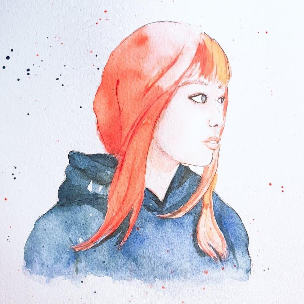 Watercolor Portrait - image 2 - student project