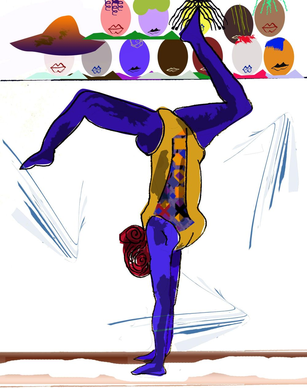 Colorful bodied gymnast by Afua - image 2 - student project