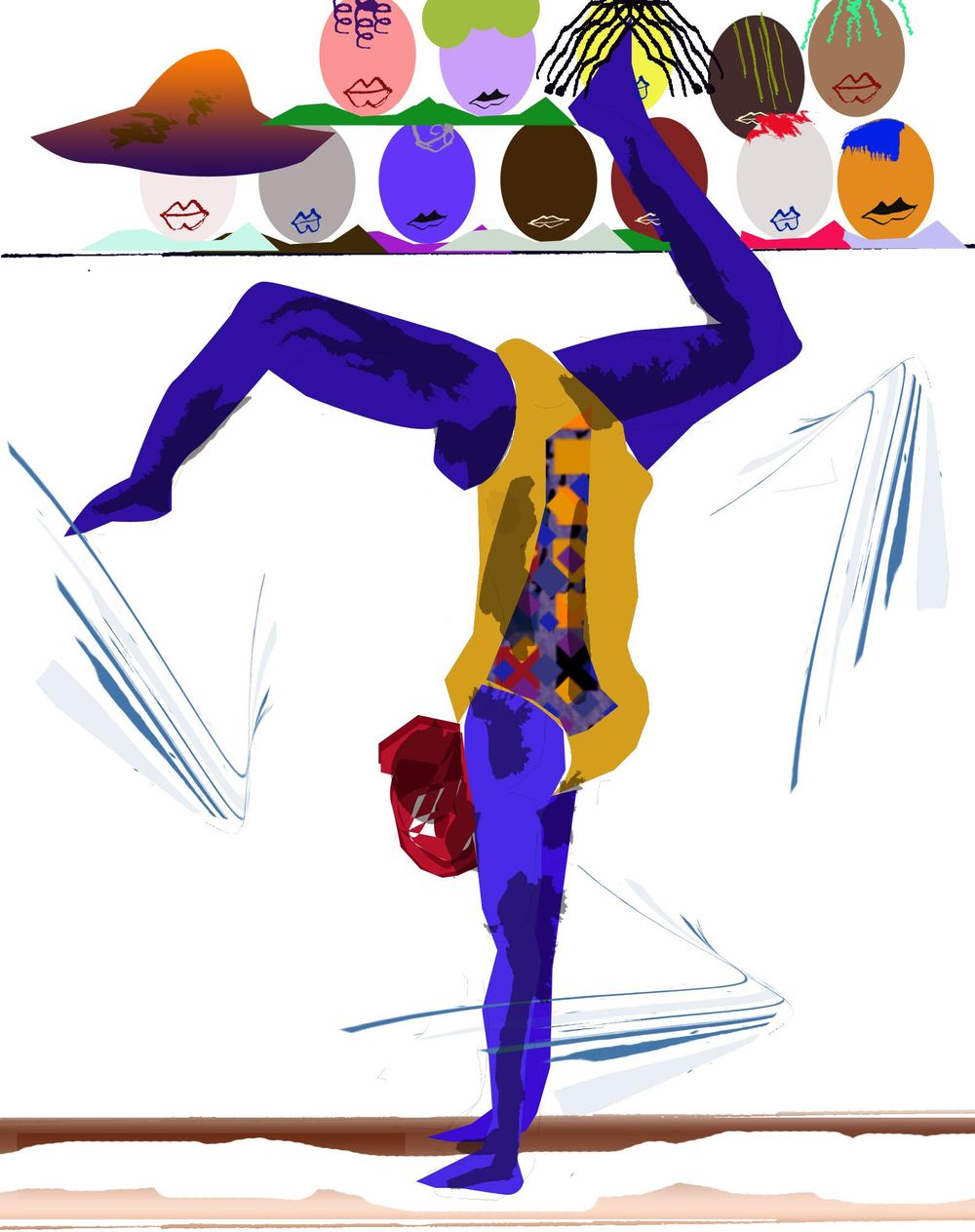 Colorful bodied gymnast by Afua - image 1 - student project