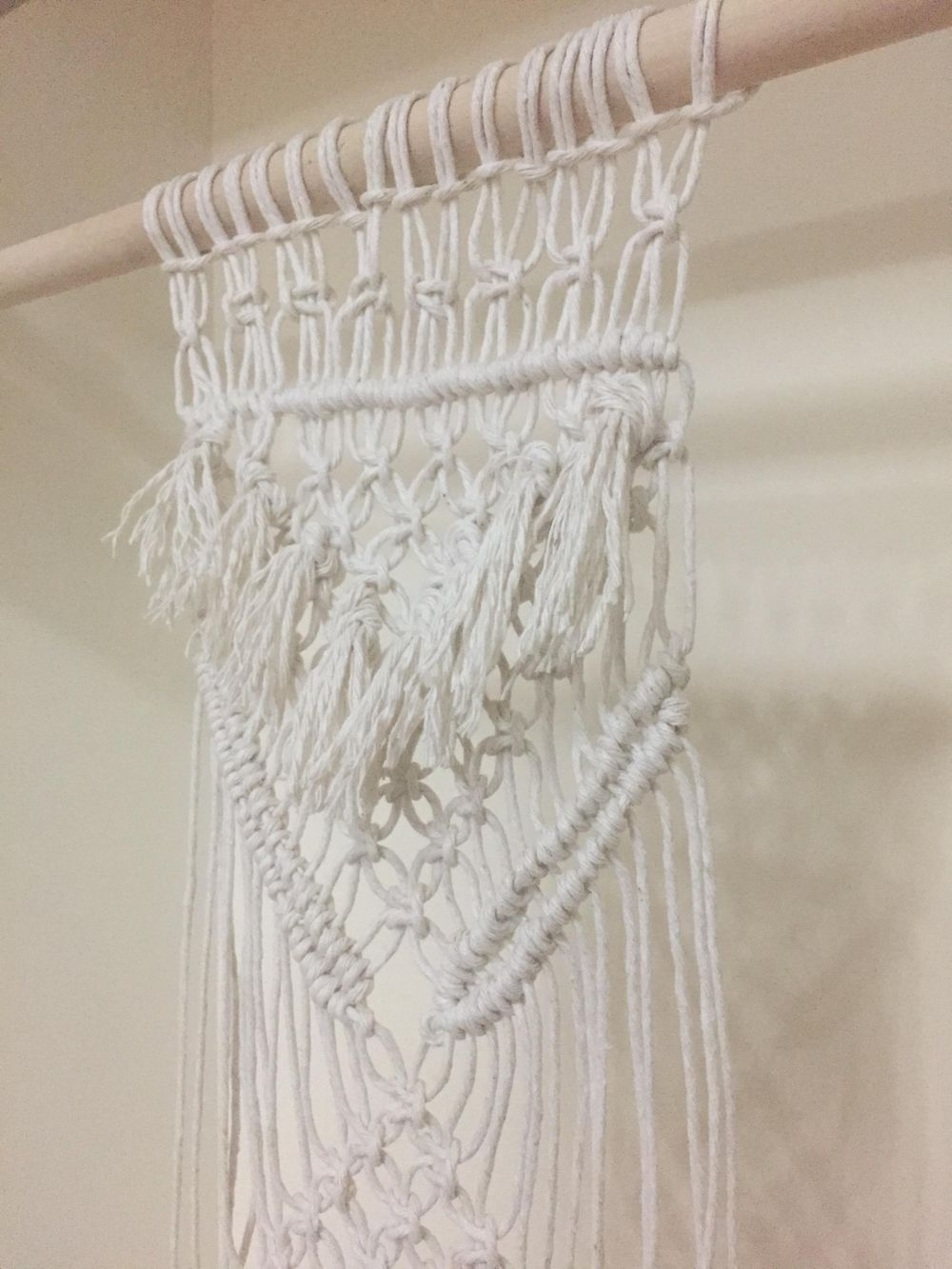 Macrame project with fringe!  - image 2 - student project
