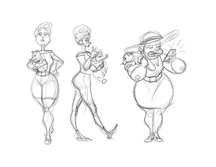 Sandra and Tiffany (Character Design) - image 1 - student project