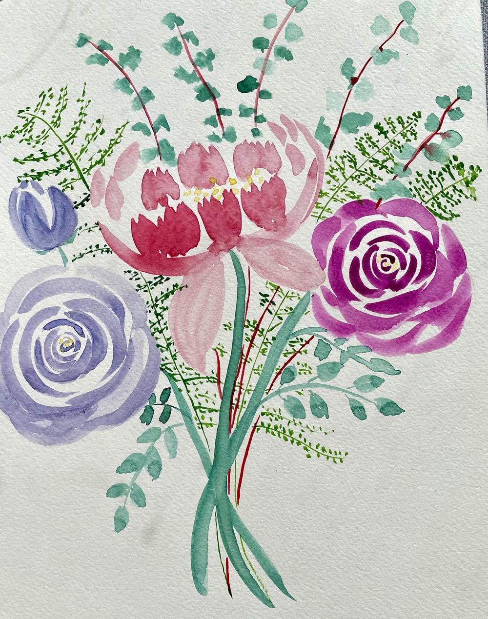 Enjoyable loose florals - image 2 - student project