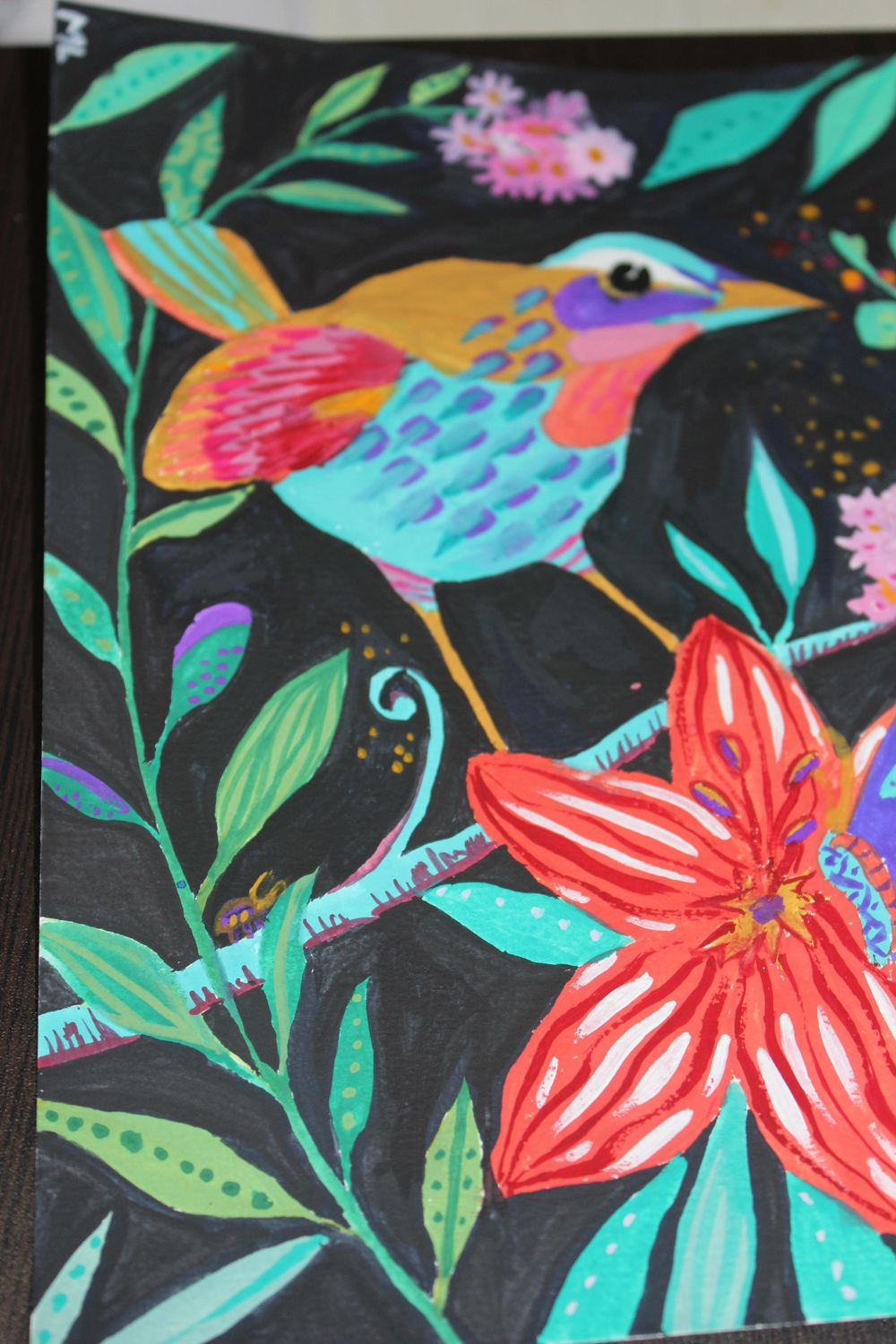 MY FIRST GOUACHE PAINTING. Hope you like it, Kate~ - image 3 - student project