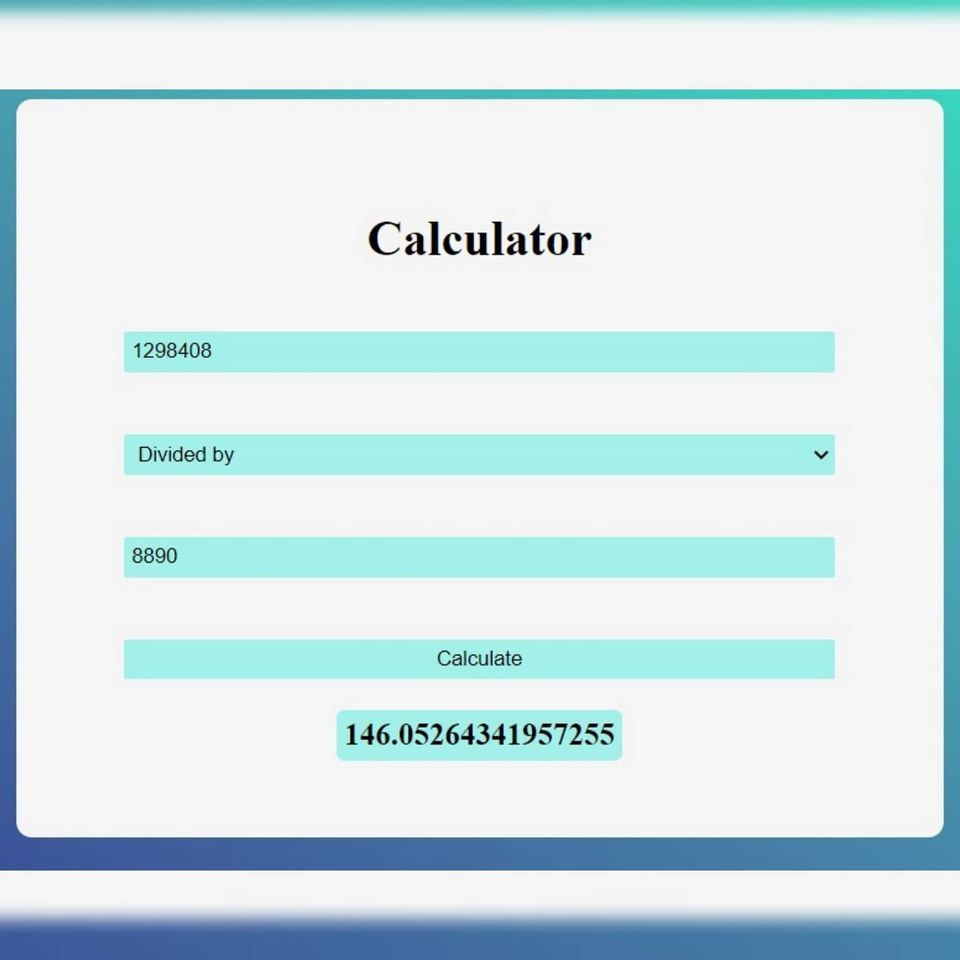 Calculator - image 1 - student project