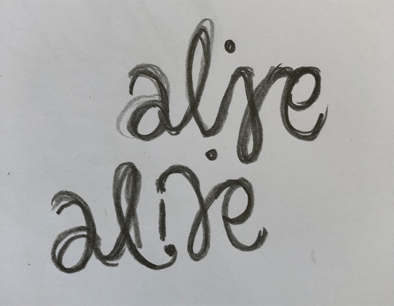 Alive Ambigram - image 2 - student project