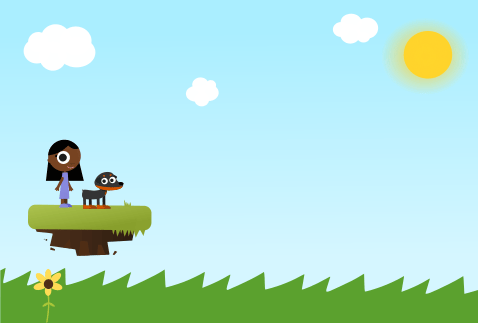 Girl and Dog game art - image 2 - student project