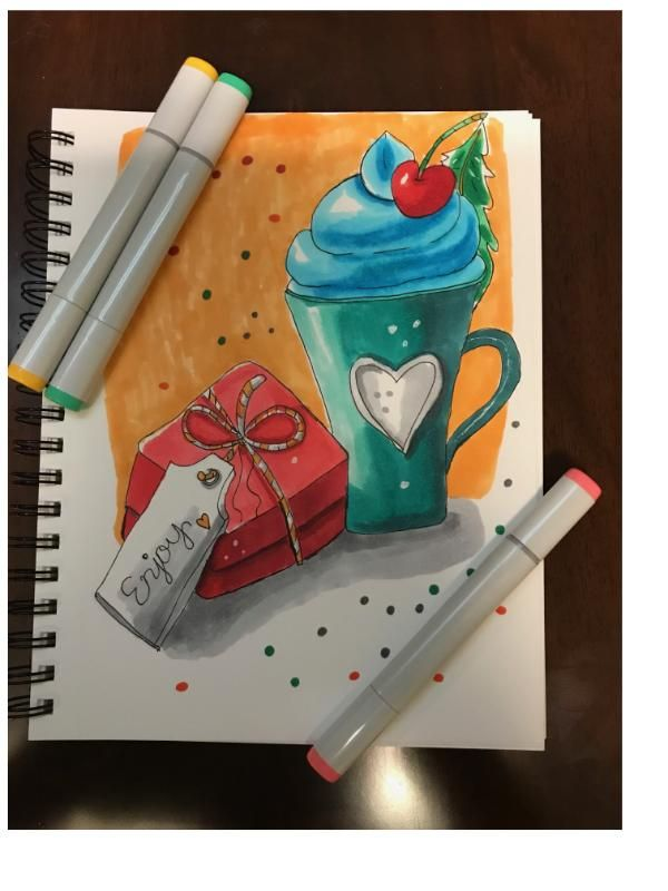 Sketching and coloring with markers - image 1 - student project