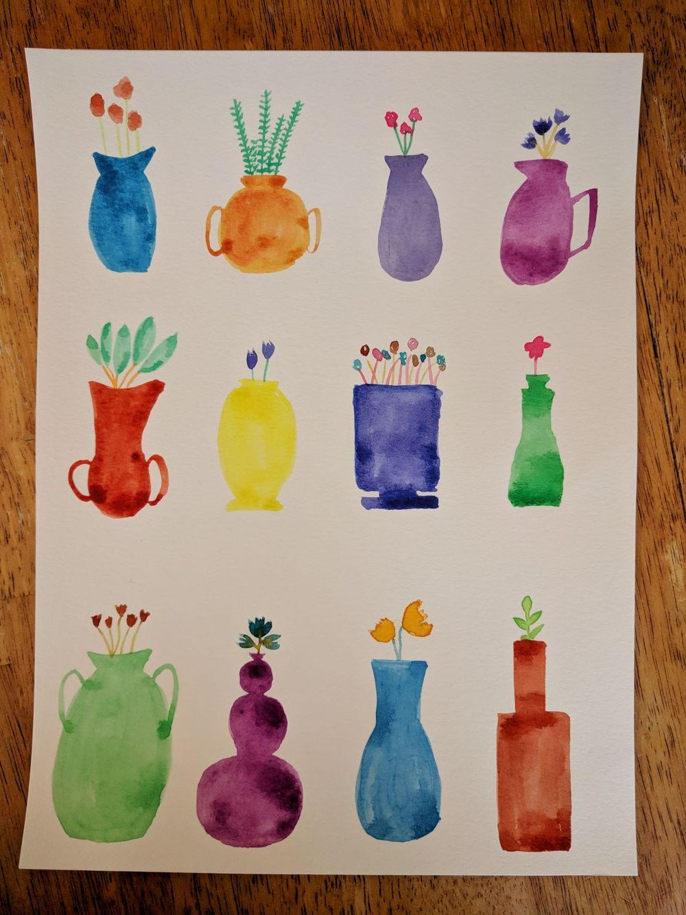 Vase Cards for Mother's Day - image 1 - student project