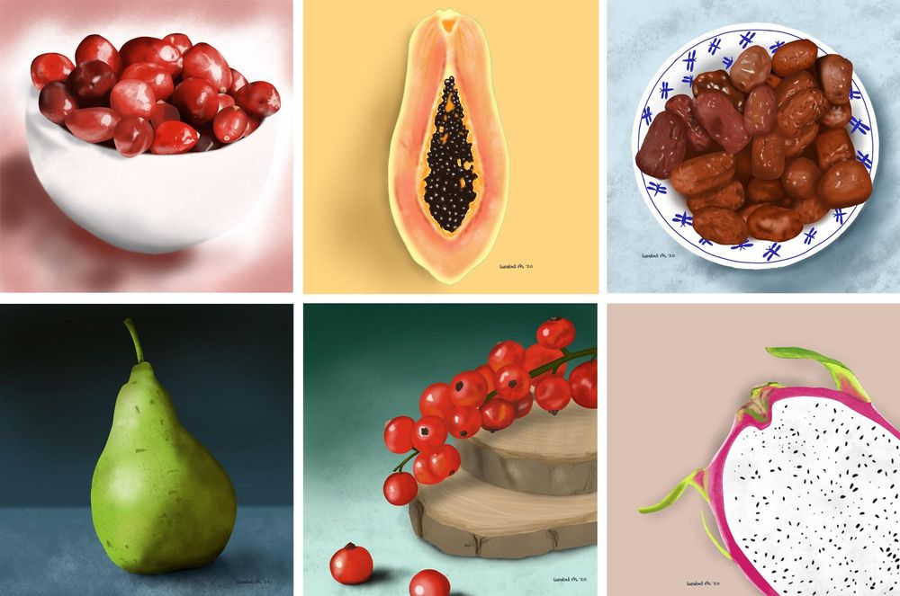 Drawing fruits and nuts for 30 days - image 5 - student project