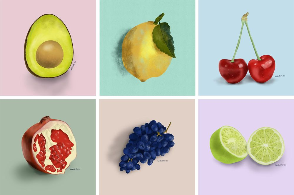 Drawing fruits and nuts for 30 days - image 2 - student project