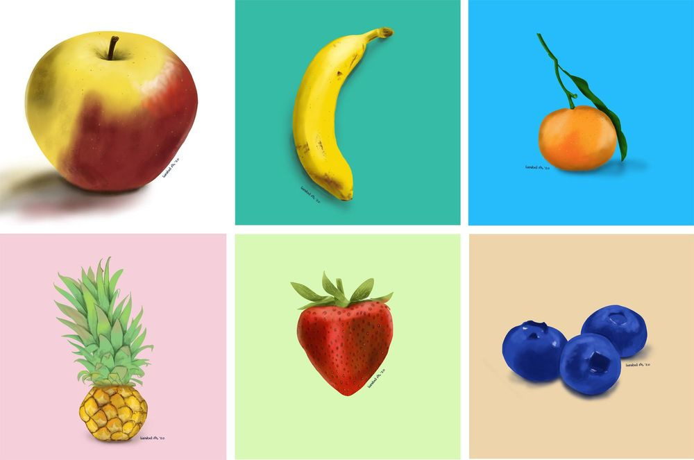 Drawing fruits and nuts for 30 days - image 1 - student project