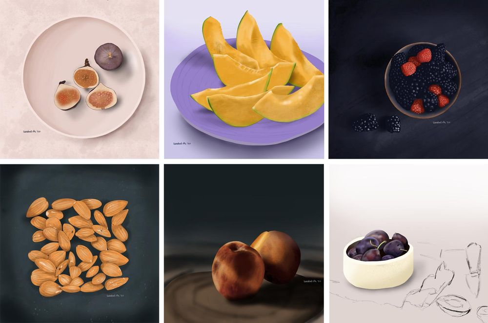 Drawing fruits and nuts for 30 days - image 3 - student project