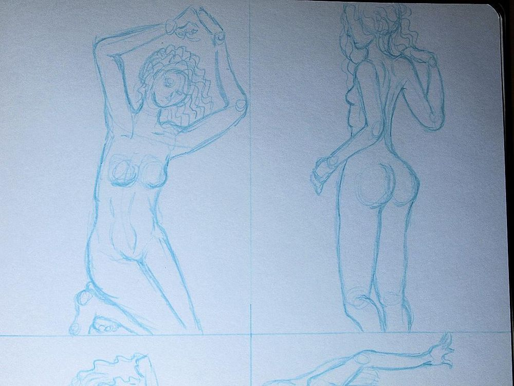 Trying my hand at gesture drawing - image 4 - student project