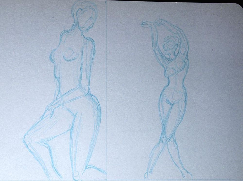 Trying my hand at gesture drawing - image 1 - student project