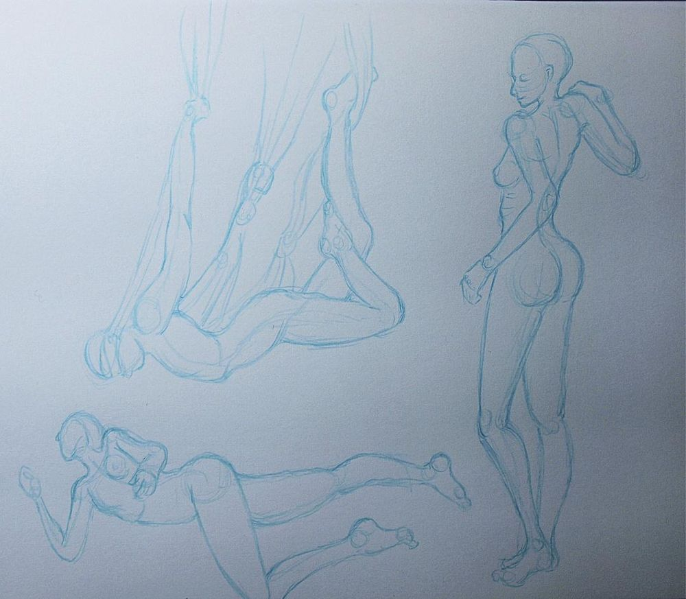 Trying my hand at gesture drawing - image 5 - student project