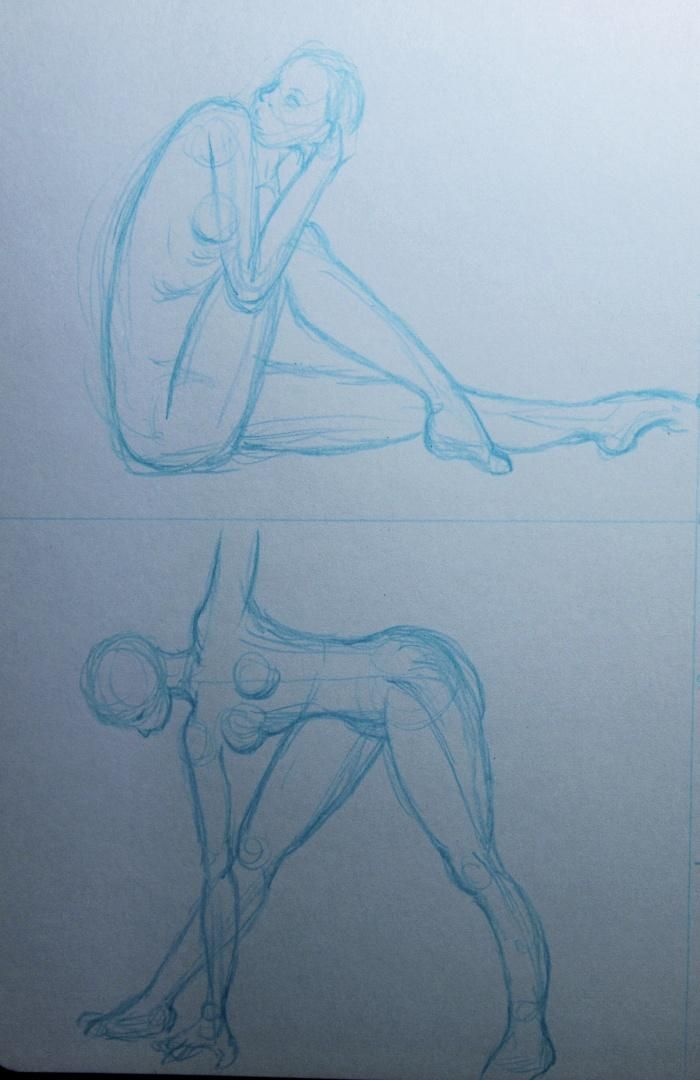 Trying my hand at gesture drawing - image 2 - student project
