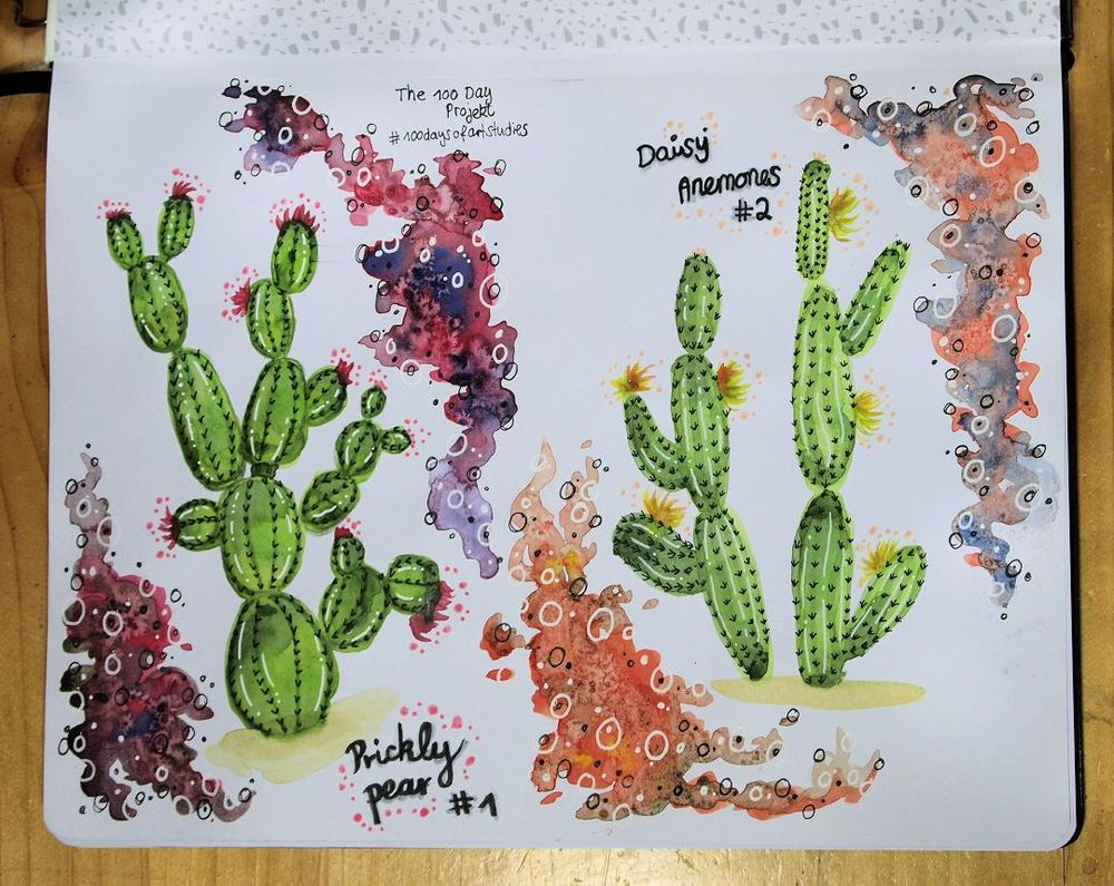 Practising watercolor one cactus at a time... - image 1 - student project