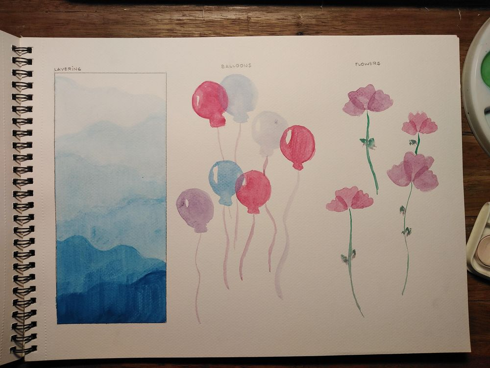 Basic Watercolor Practice - image 1 - student project