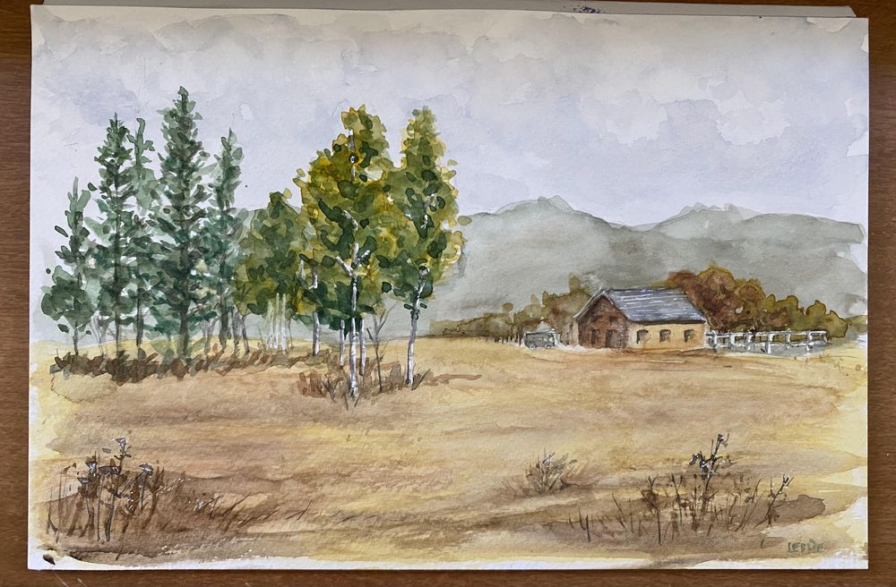 Landscape Watercolor - image 1 - student project
