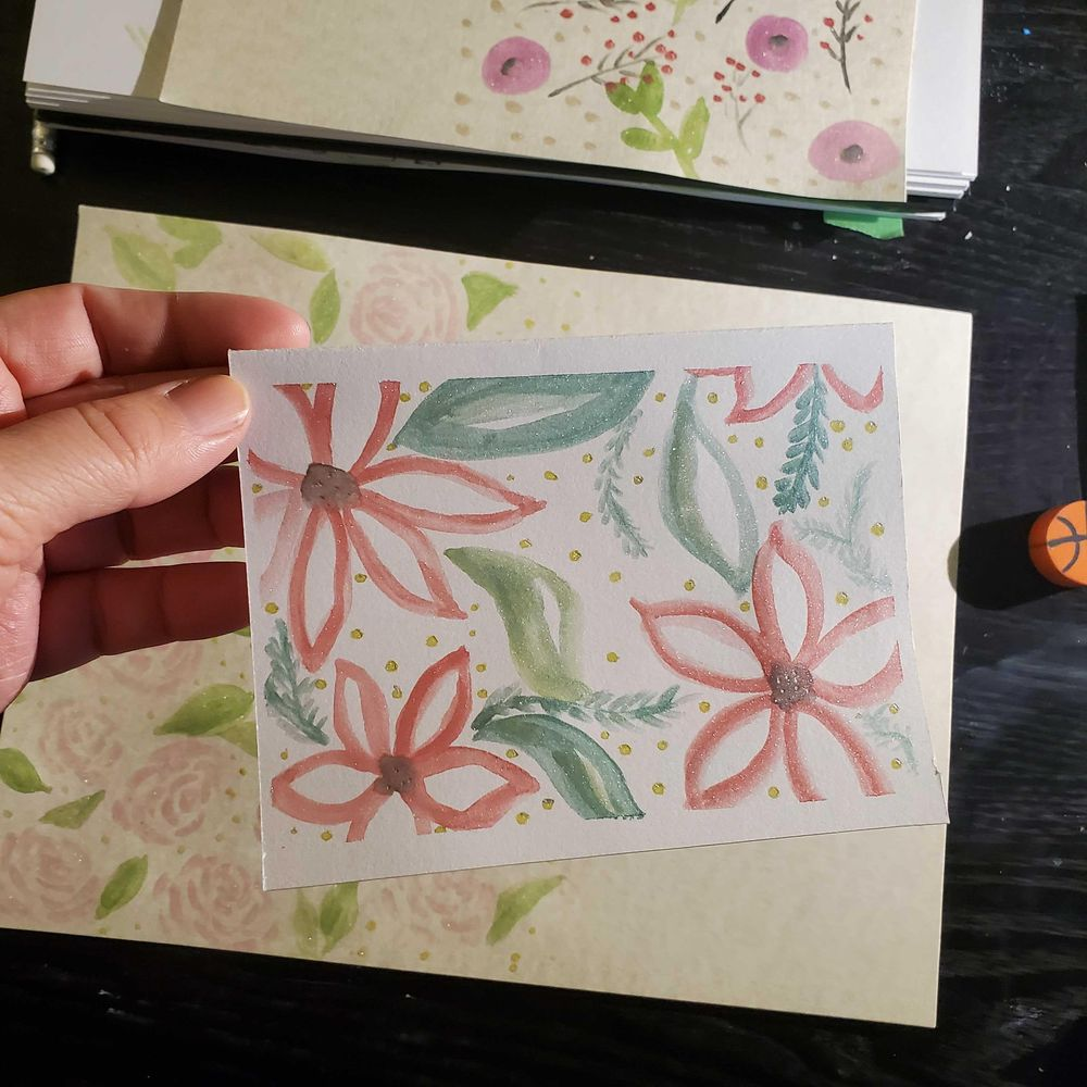 Floral watercolor cards - image 5 - student project