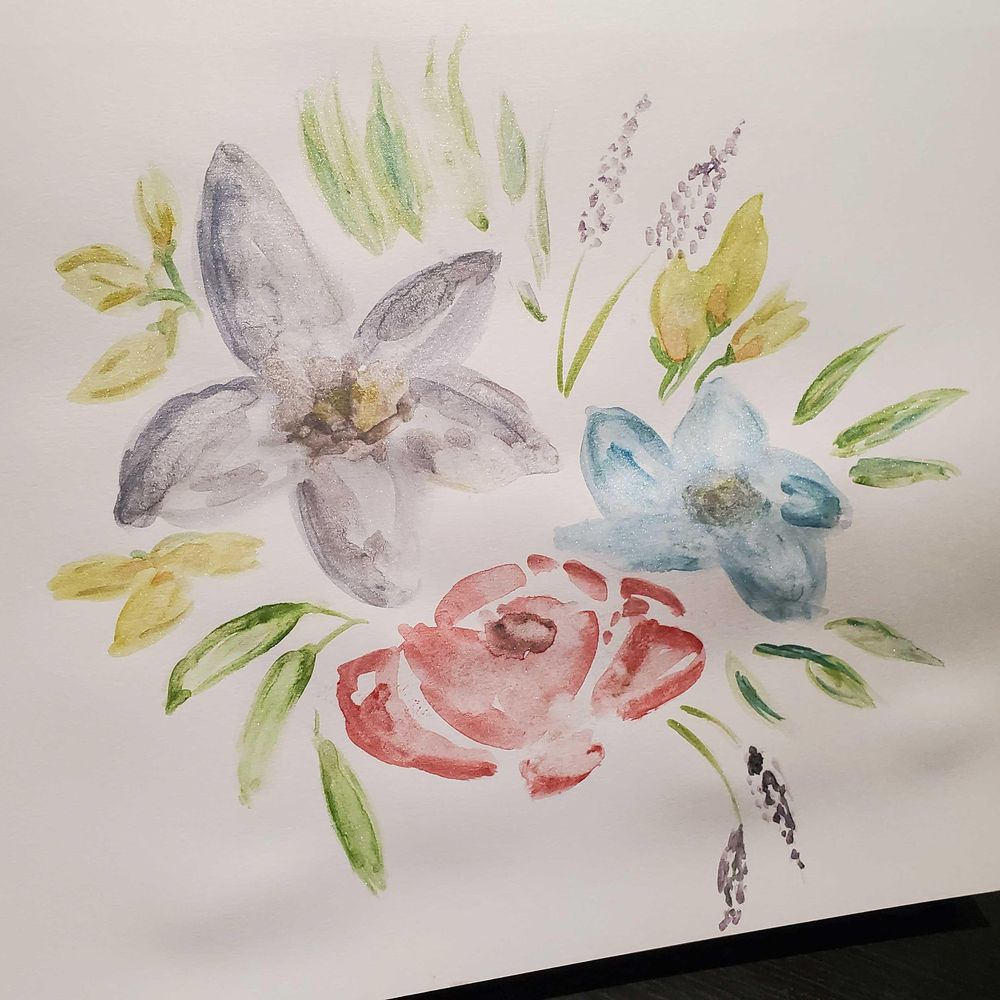 Watercolor florals - image 4 - student project