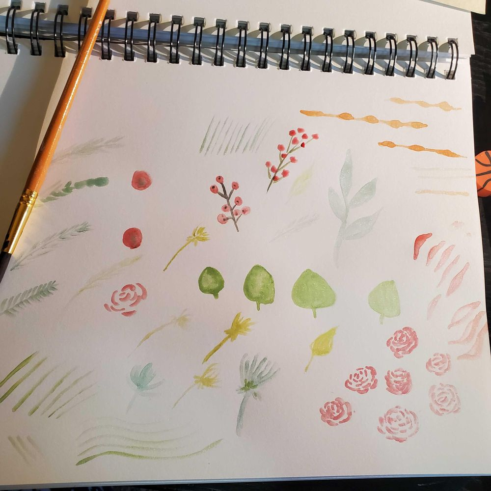 Floral watercolor cards - image 1 - student project
