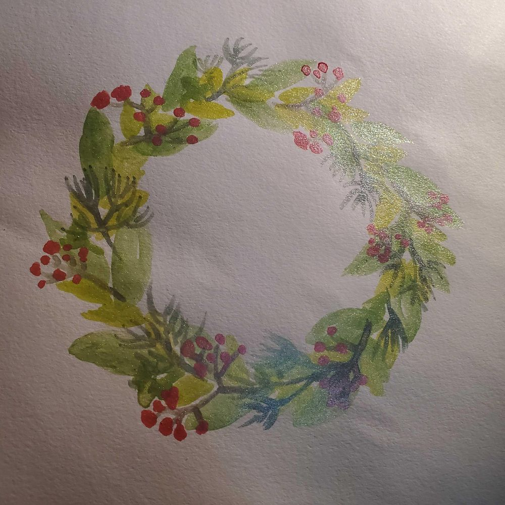 Holiday wreath - image 1 - student project