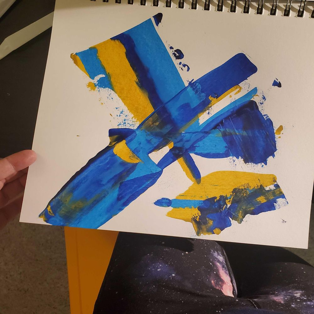 Arcylic scrape paintings - image 2 - student project