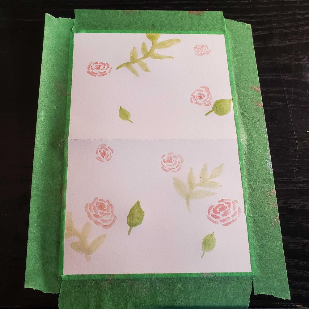 Floral watercolor cards - image 2 - student project
