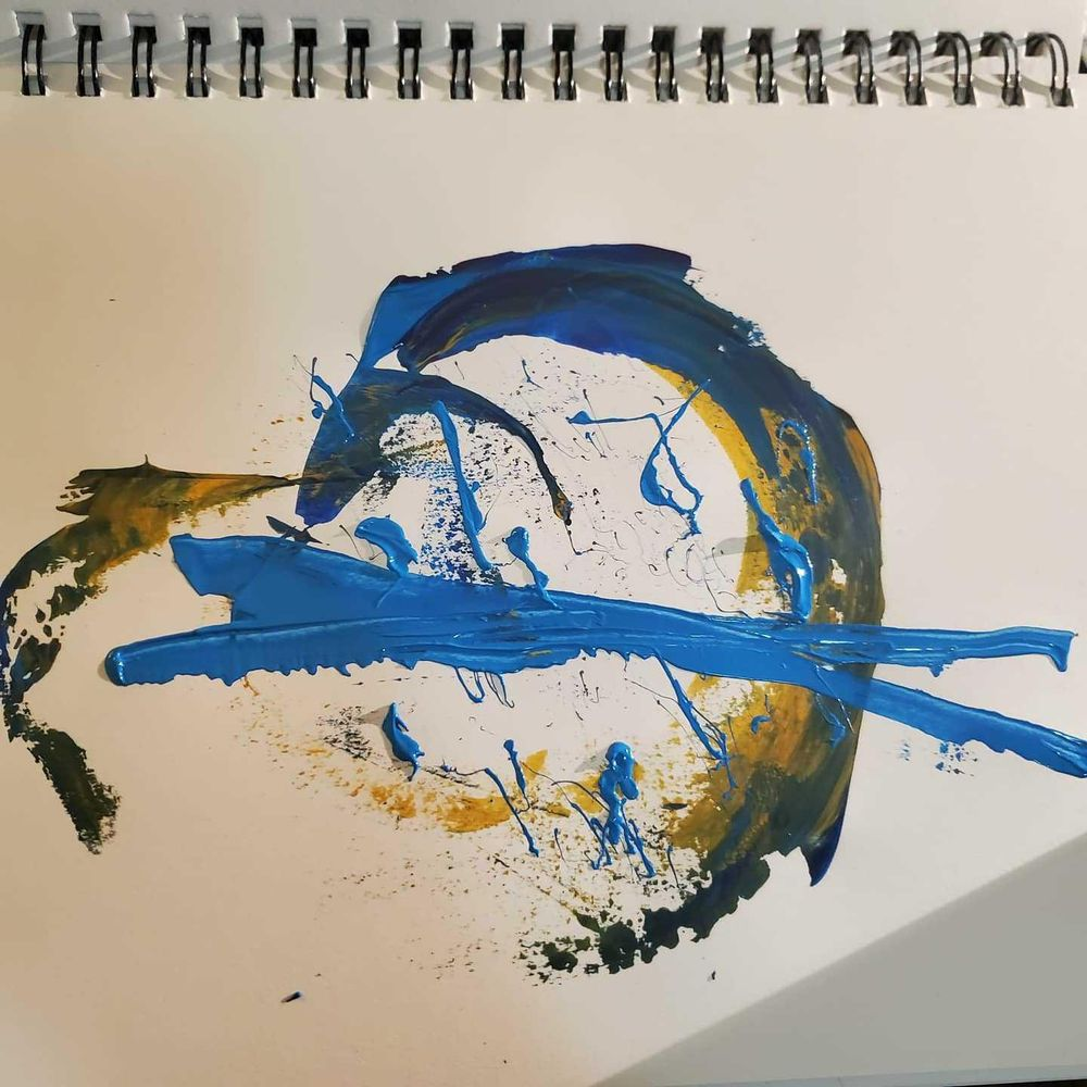 Arcylic scrape paintings - image 3 - student project