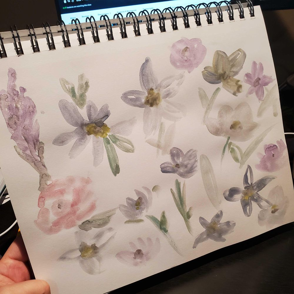 Watercolor florals - image 2 - student project