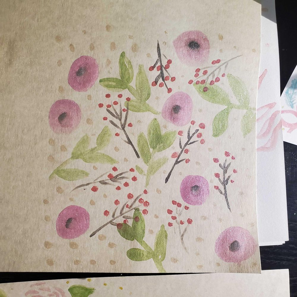 Floral watercolor cards - image 4 - student project