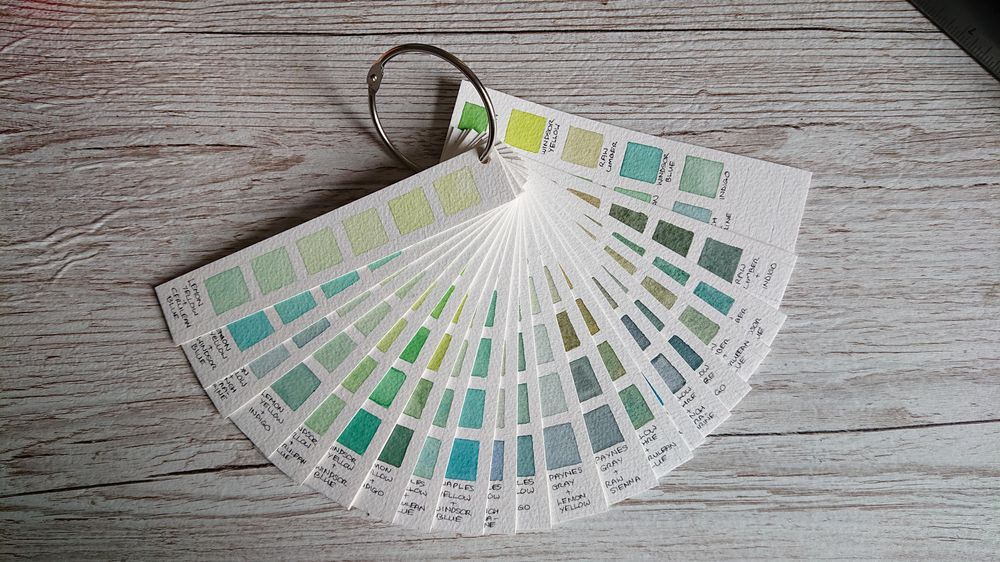 Mixing chart for greens - image 1 - student project