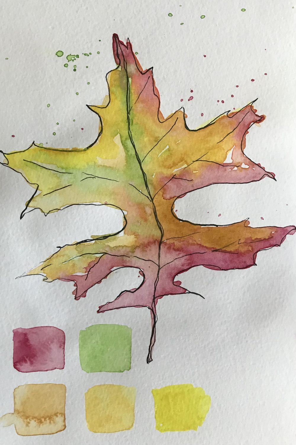 Loose flower and leaf - image 1 - student project