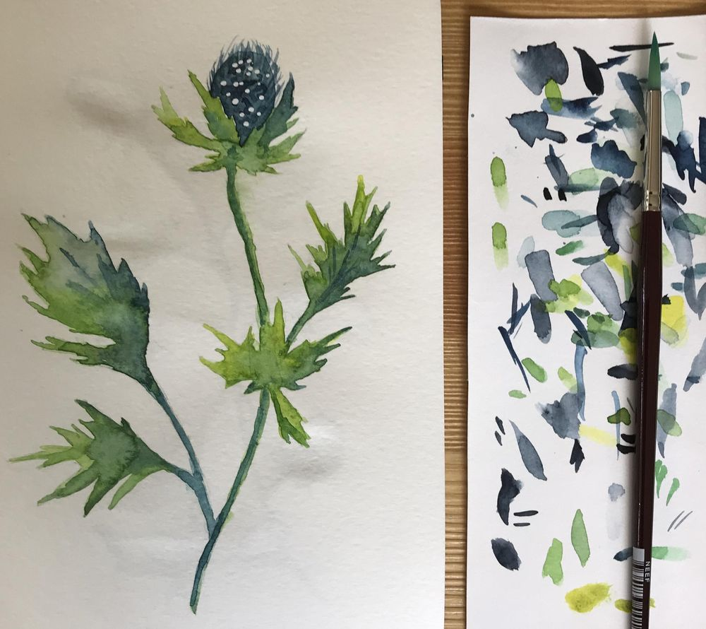 Greenery in watercolour - image 1 - student project