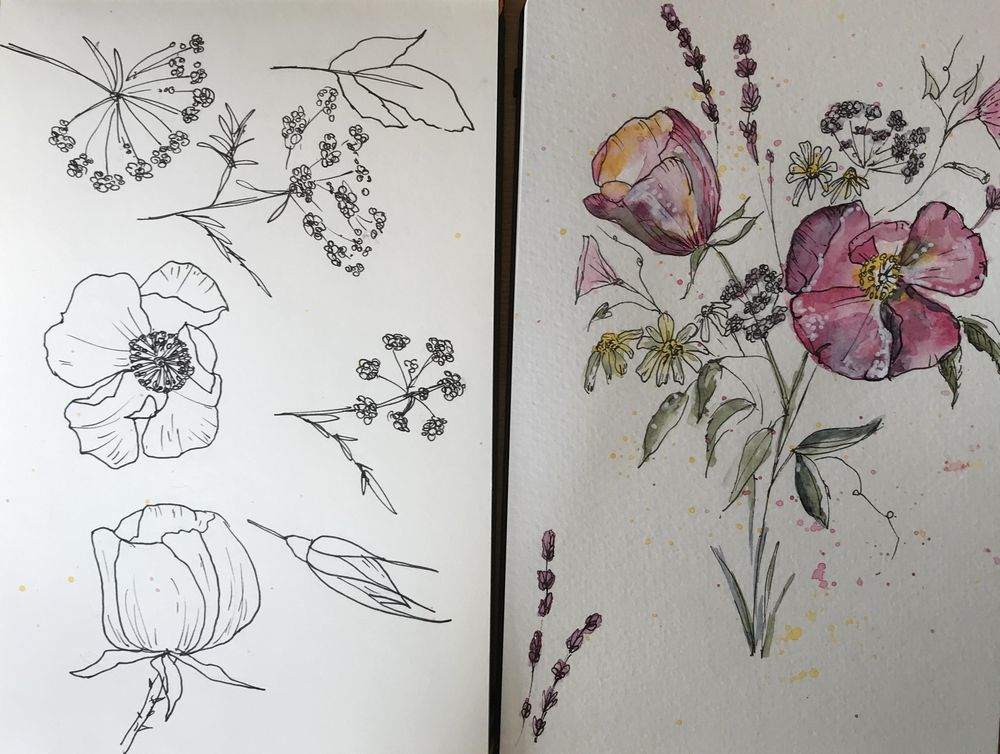5 flowers - image 2 - student project