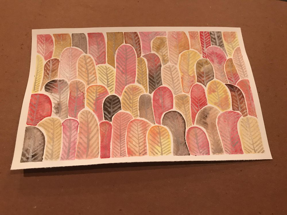Forest of Feathers and Leaves - warm tones - image 1 - student project