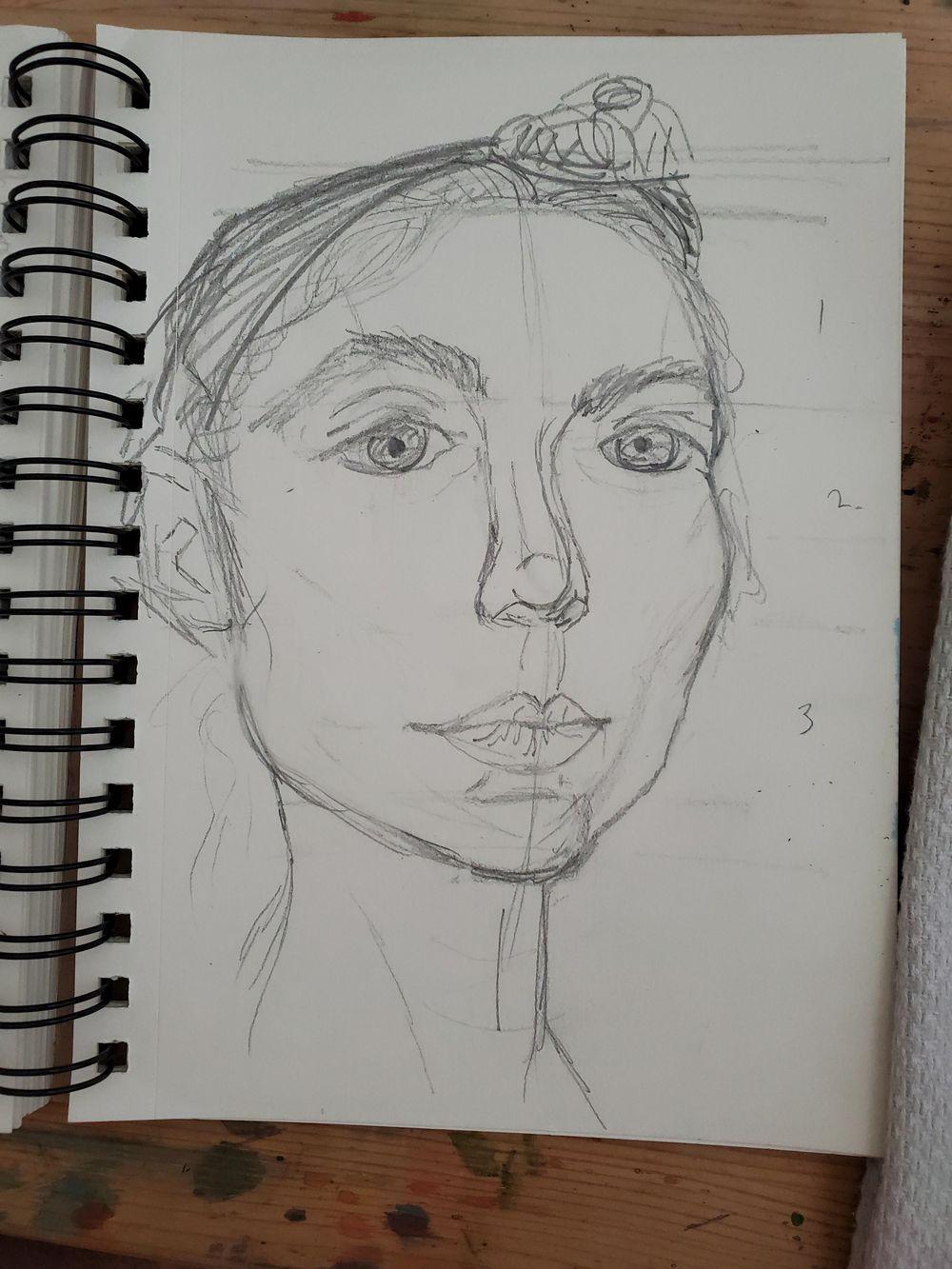 Self Portrait Attempts - image 3 - student project