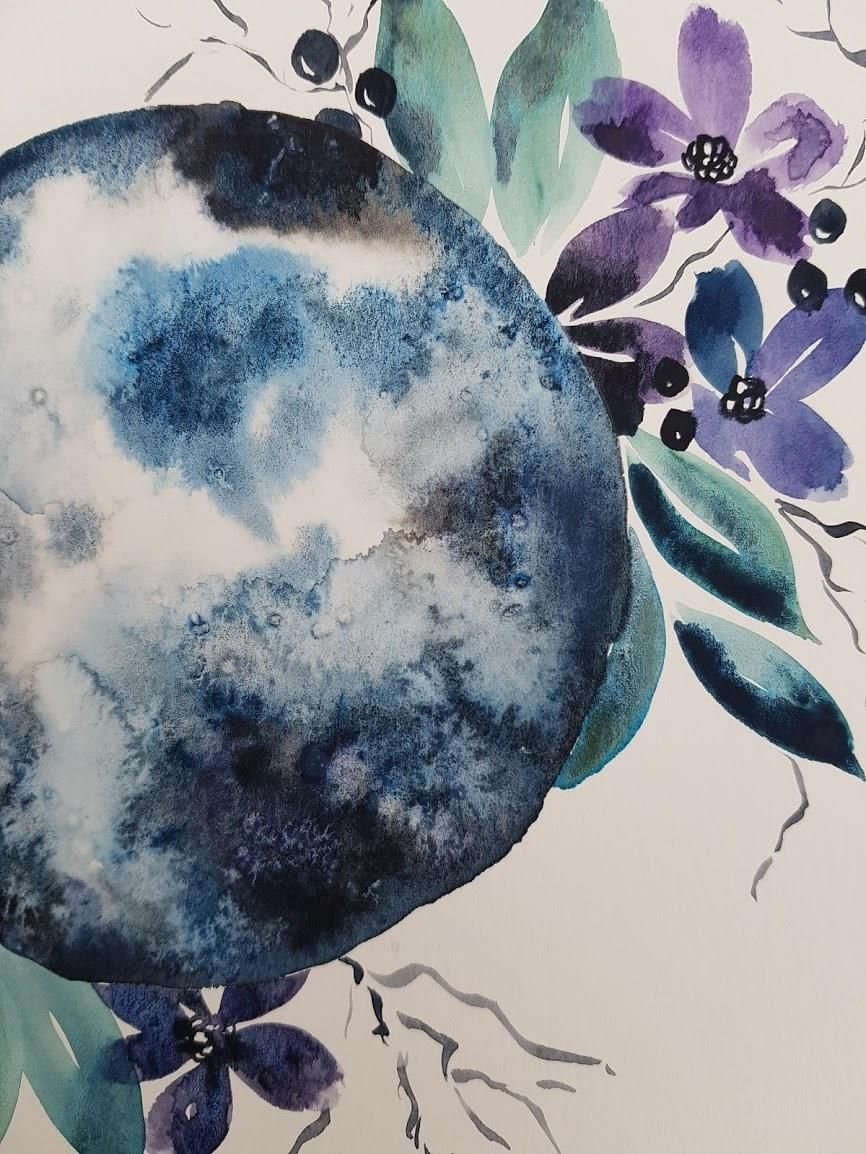 Watercolor Moon - image 2 - student project