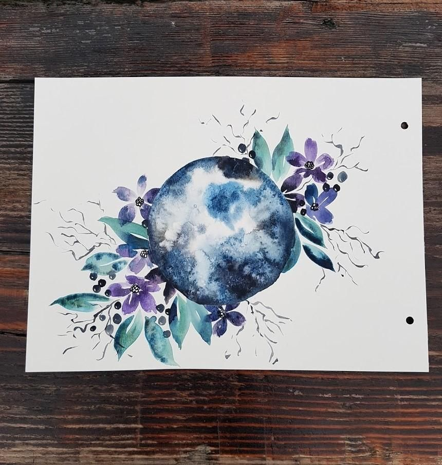 Watercolor Moon - image 1 - student project