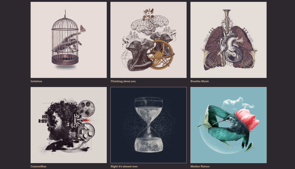My threadless shop is all about collage - image 1 - student project