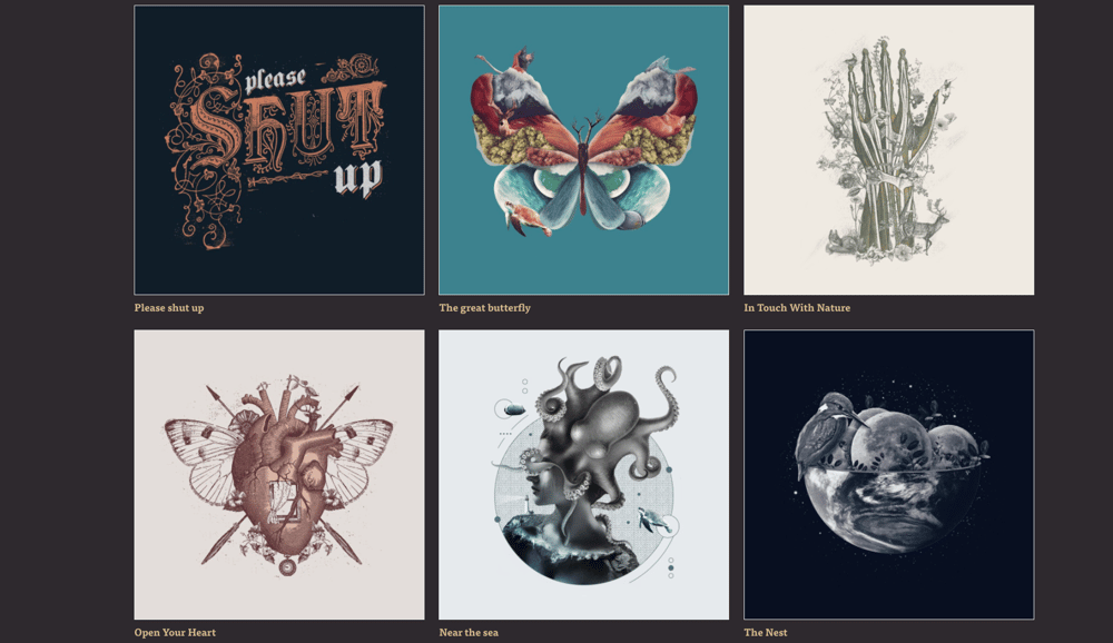 My threadless shop is all about collage - image 2 - student project