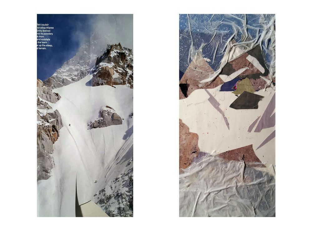 Snow Covered Mountain Collage - image 1 - student project