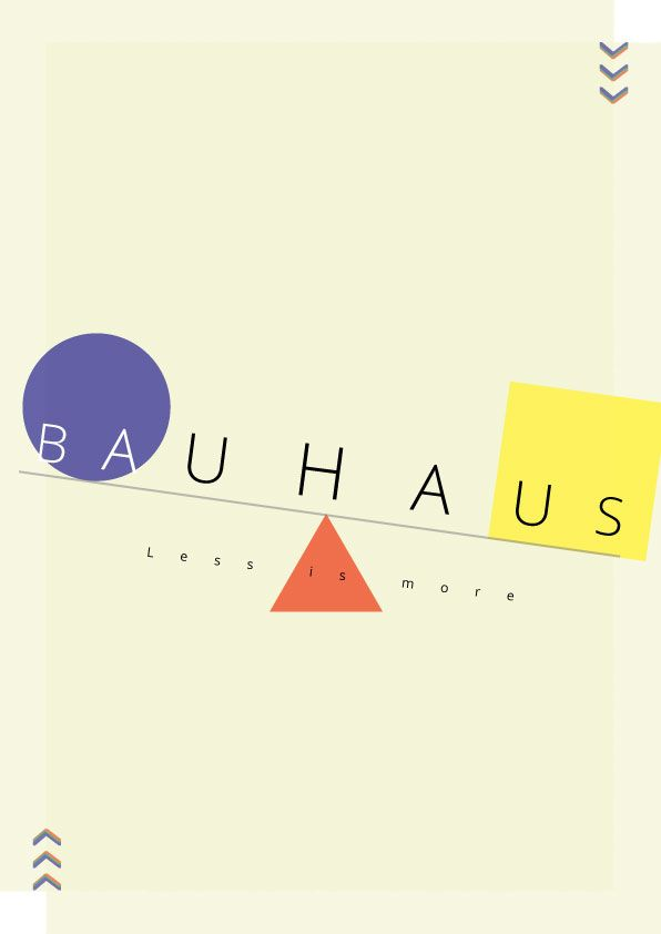 Bauhaus themed poster - image 1 - student project