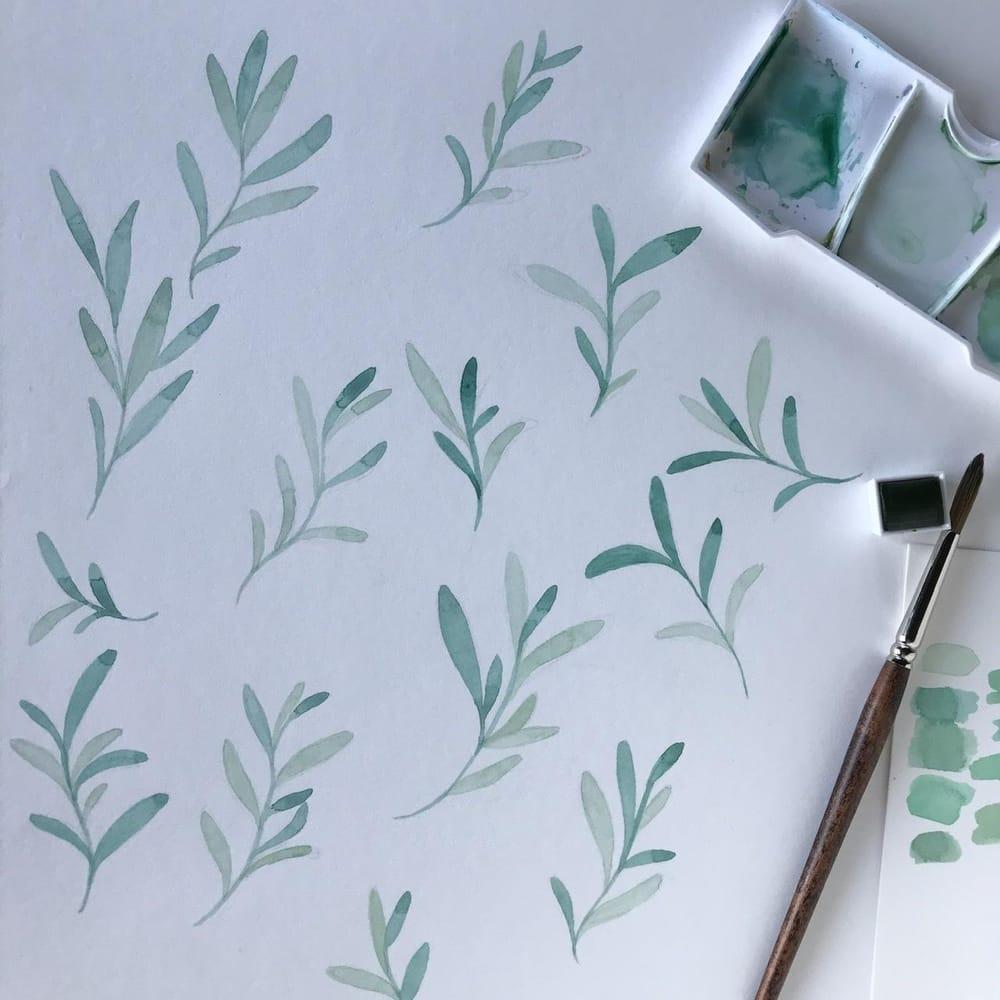 Greenery pattern - image 1 - student project