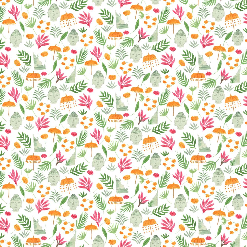 Bali inspired pattern - image 1 - student project