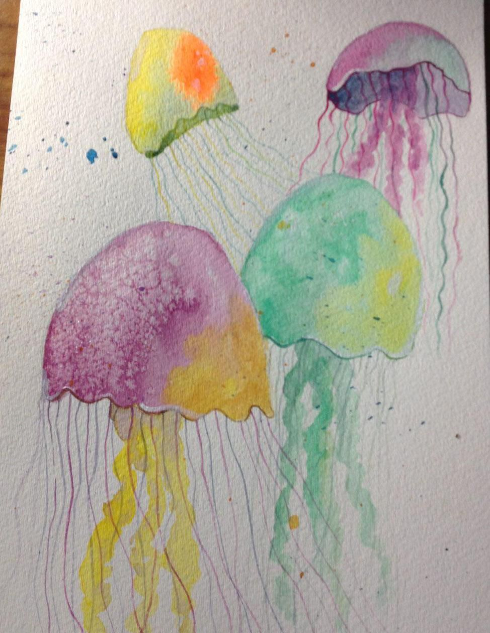 Monochrome girl, Jellyfish and Galaxy hair  - image 2 - student project