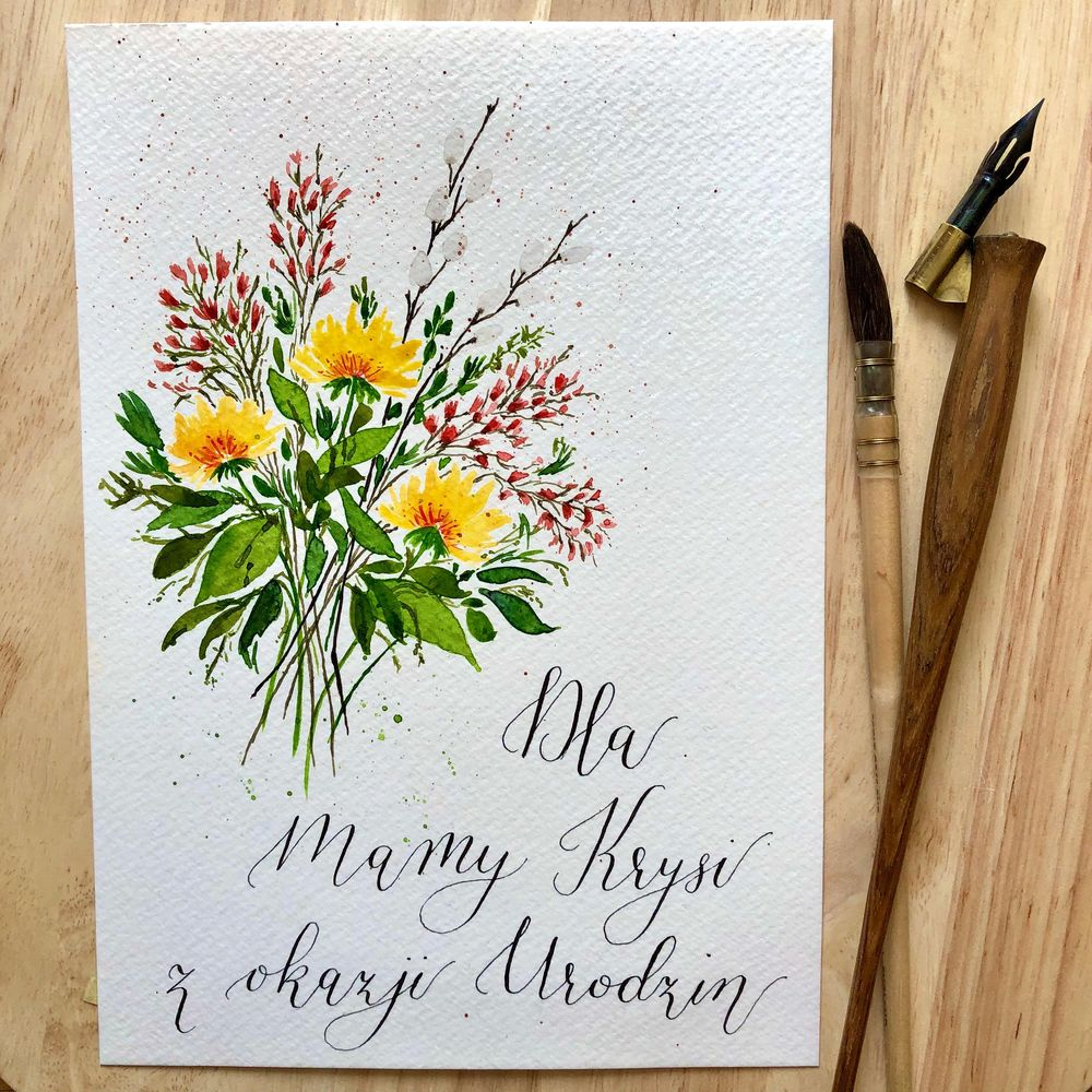 Birthday card for my mom - image 1 - student project