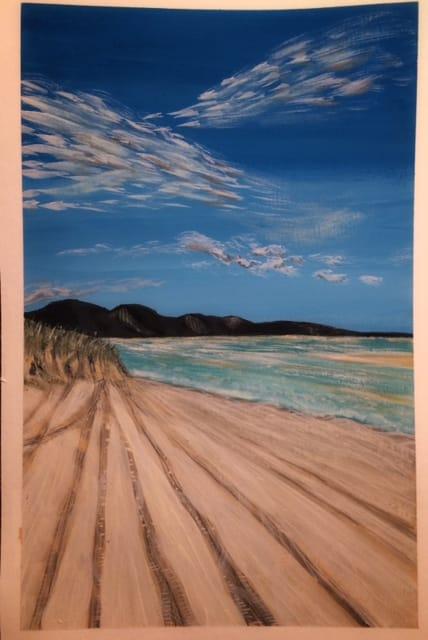 Paint a Guache landscape - image 1 - student project