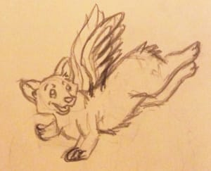Butterfly Corgi - image 1 - student project